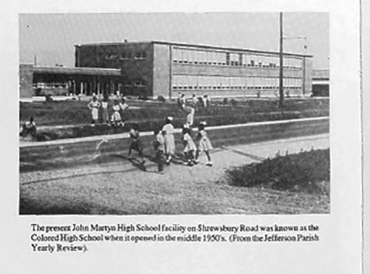 Shrewsbury School, Old Jefferson, Jefferson Parish, African American Heritage