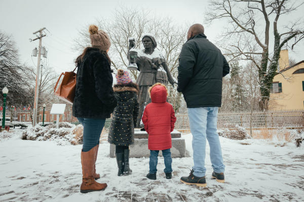 Harriet with Family in the winter