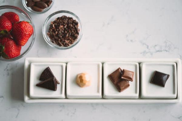 Chocolate tasting plate