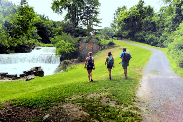 Hike Near Seneca Mills Falls On Keuka Outlet Trail