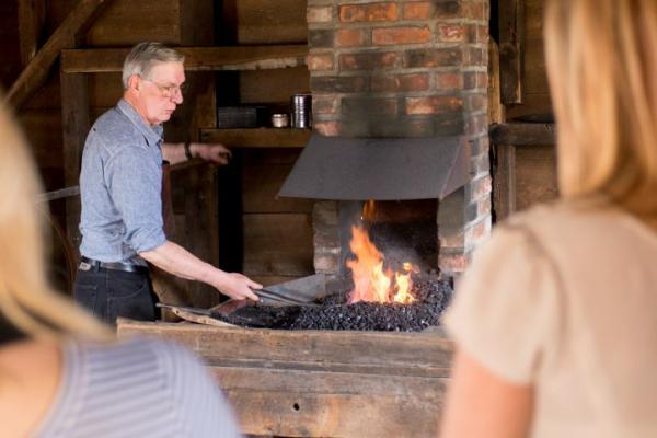 heritage village blacksmith courtesy of stu gallagher 4720