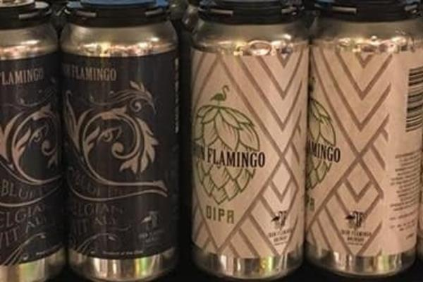Iron Flamingo beer cans