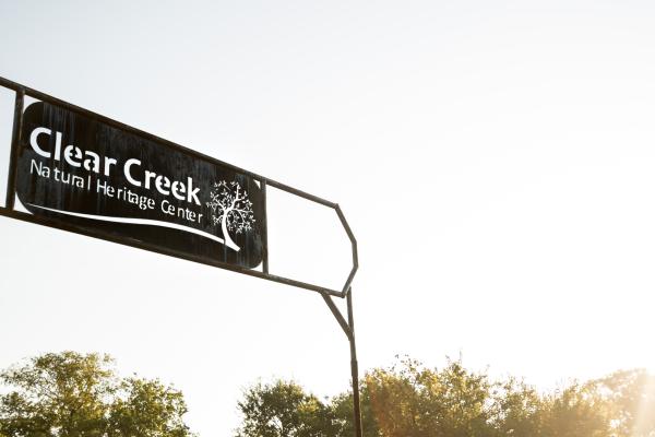 Entrance sign for Clear Creek Natural Heritage Center