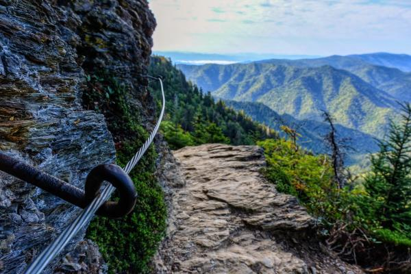 The Alum Cave Trail offers hikers epic views of the Smoky Mountains