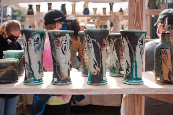 Pottery on display at the Peter Anderson Festival