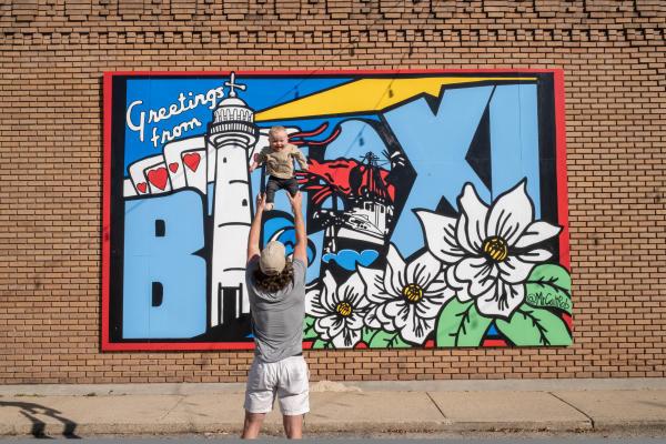 Greetings from Biloxi mural