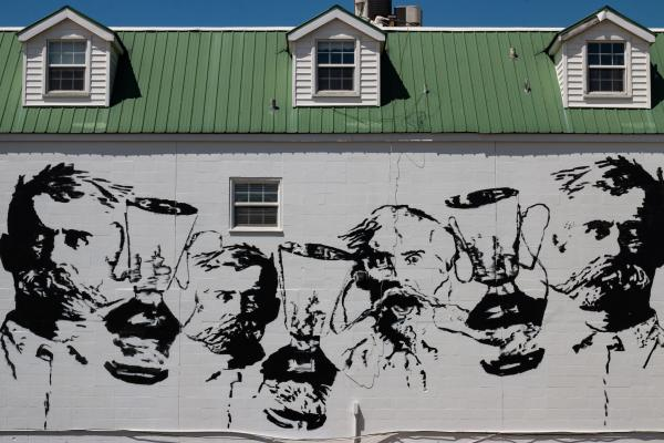 George E. Ohr Mural at Mary Mahoney's by Zach DePolo