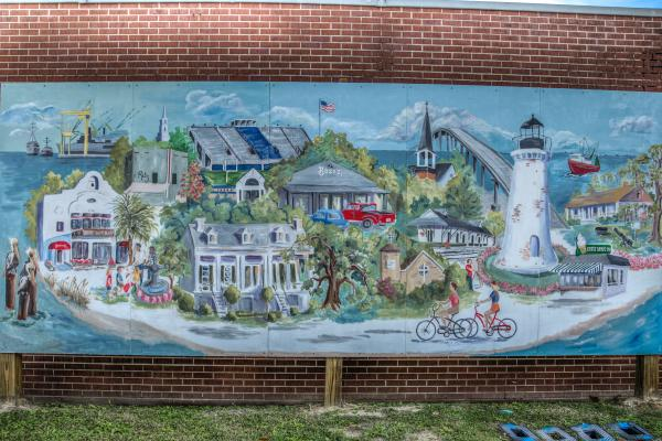 Pascagoula Mural by Mary Bet Evans