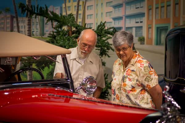 Antique Auto Couple