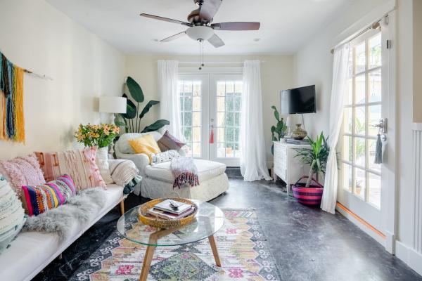airy bohemian airbnb
