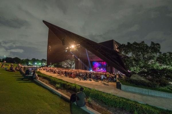 Miller Outdoor Theatre At Dusk In Houston, TX