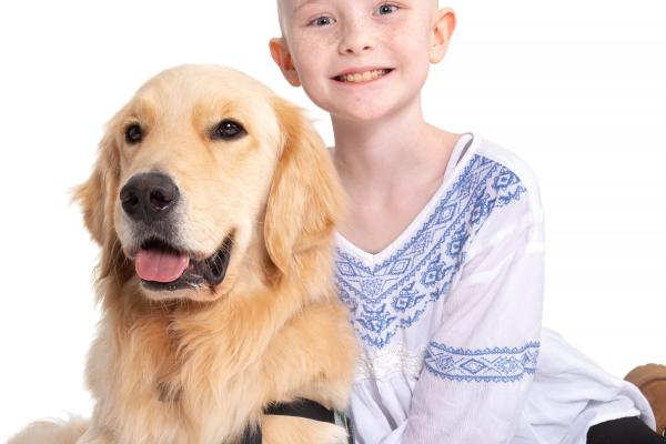 St. Jude Therapy Dog with Child