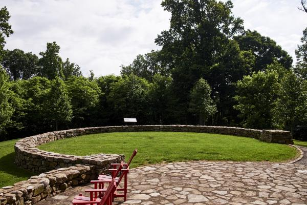 High Ground Park Stone Circle And Plaque In Knoxville, TN