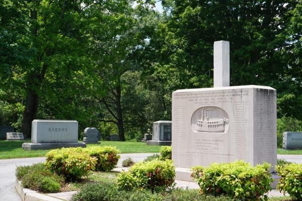 Headstones At Mount Olive Cemetery In Knoxville, TN
