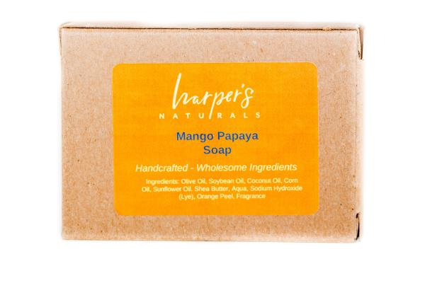 Mango Papaya Soap from Harper's Naturals based in Knoxville, TN