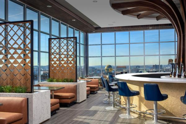 Windows and Seating At Radius Rooftop In Knoxville, TN