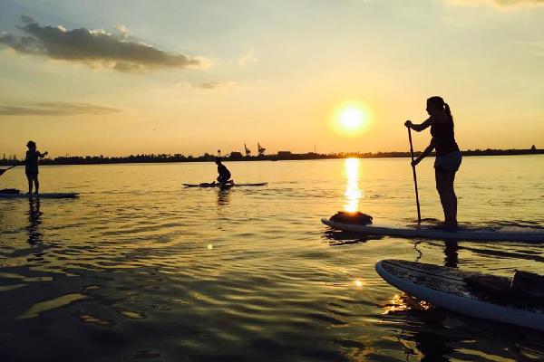 Paddle Boarding in Lake Charles