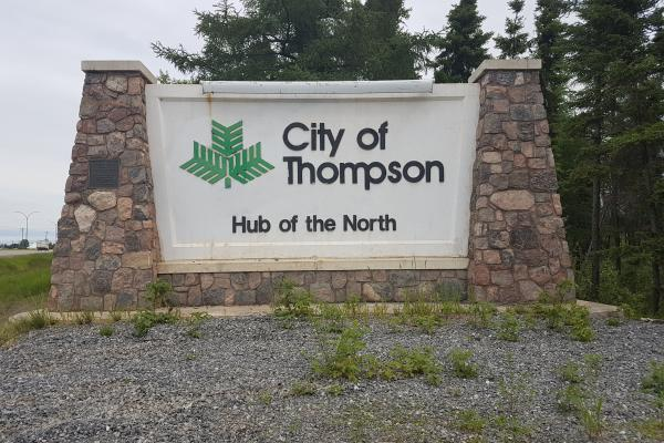 City of Thompson sign