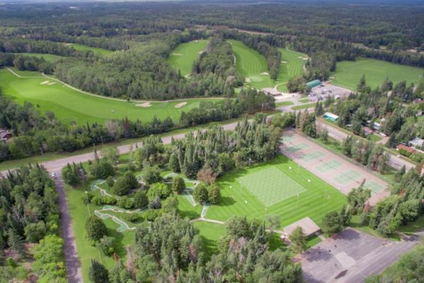 Aerial view of the Falcon Lake Golf Course