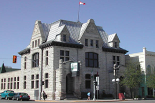 Historic City Hall in Portage la Prairie, Manitoba