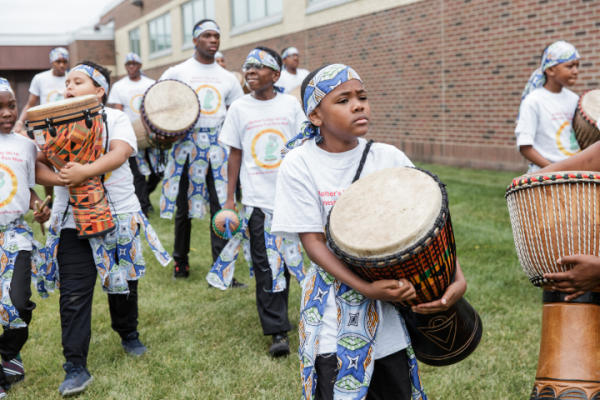 Youth drumming group