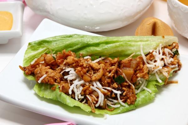 Lettuce wrap and rice