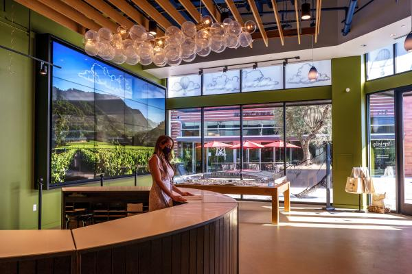 Napa Valley Welcome Center video wall