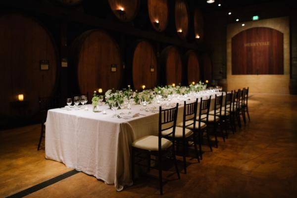 Wedding table at Napa Valley Winery