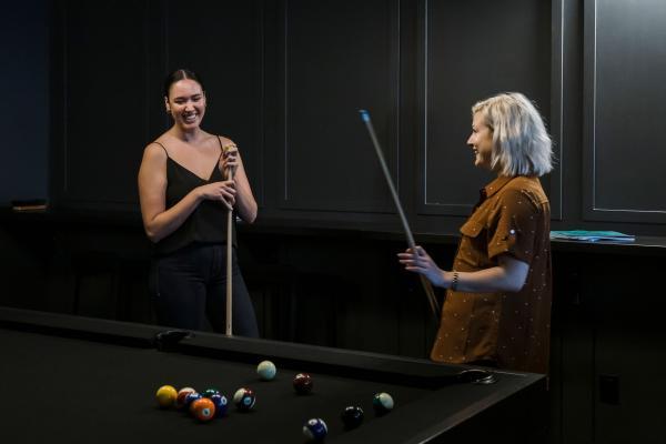 The Alt lounge pool table