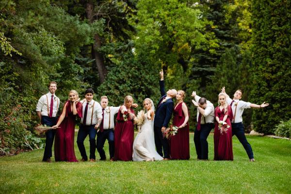 Forestry Farm wedding party
