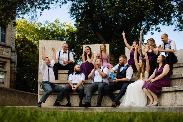 U of S wedding party