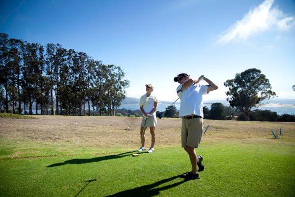 golfing in SLO CAL