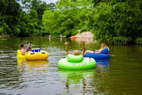 Friends Tubing on Bogue Chitto River