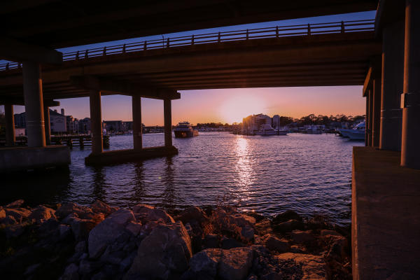 Rudee Inlet at Sunset