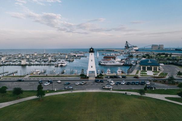 Jones Park Gulfport aerial