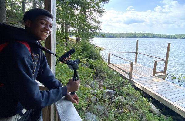 teen smiling at camera