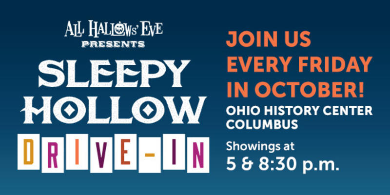 OHC Drive in Series Sign All Hallows Eve Presents Sleepy Hollow Drive-In