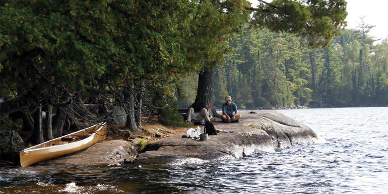 canoe lakeside