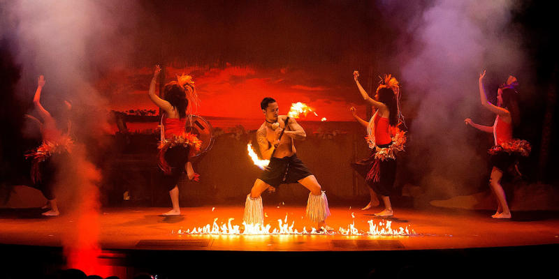 Polynesian Fire Show and Dinner