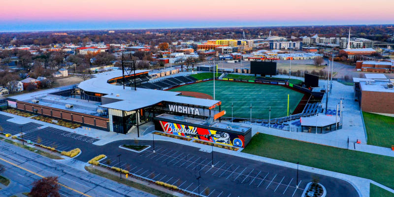 Riverfront Stadium Drone Photo