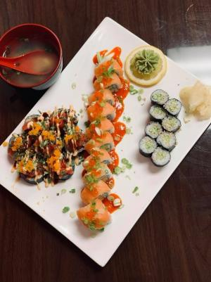 A plate of sushi at Saint Sushi and Sake in Leavenworth