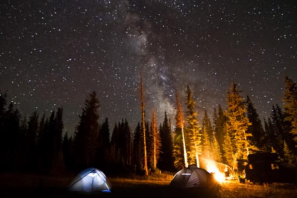Fall Night Camping in Utah Valley