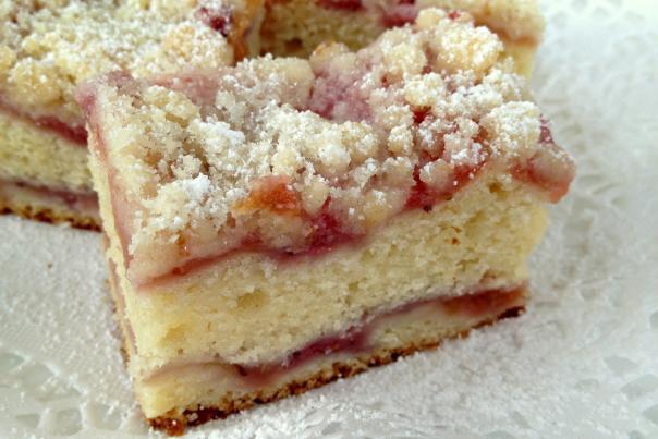 Rhubarb Crumb Coffeecake