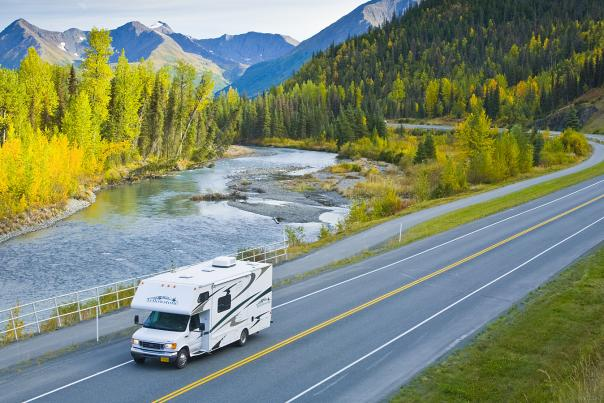 RV tours on the Seward Highway outside Anchorage