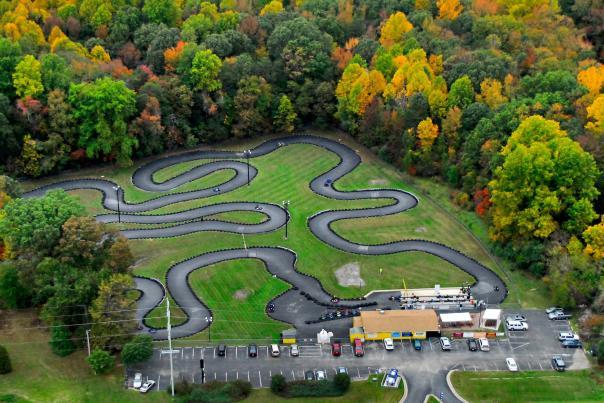 Crofton Go Kart raceway aerial view