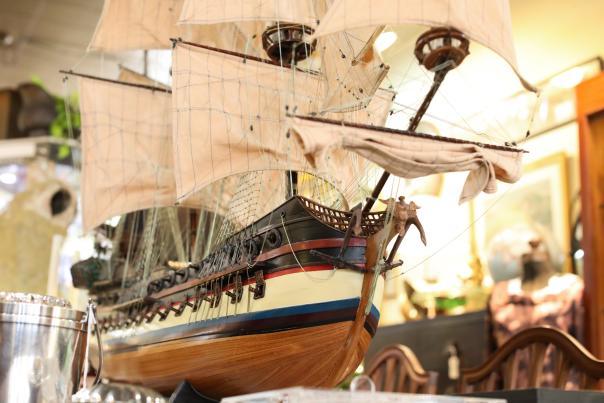 Historic ship model.