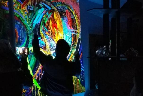 Artist Mark Peria's Colorful Birthday Surprise