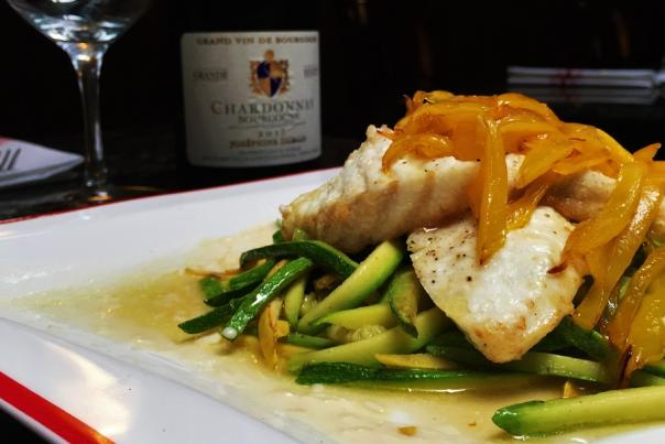 Café Normandie-Sea bass with Mango and Tequila