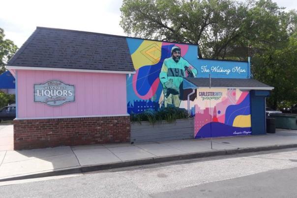Comacell Brown mural mockup