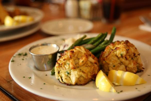 _Crab Cakes at the Boatyard Bar and Grill 300 dpi